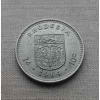 Родезия (брит. колония), 1 шиллинг - 10 центов 1964 г.