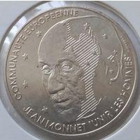 Франция 100 франков 1992 года. Жан Монне