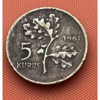 125-18 Турция, 5 курушей 1961 г.