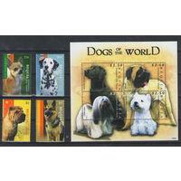Бекуа Собаки 2009 год чистая полная серия из 4-х марок и блока