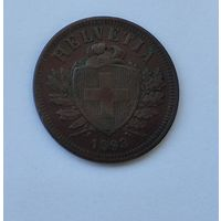 Швейцария 2 раппена, 1893  7-5-41