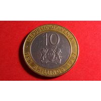 10 шиллингов 1997. Кения.