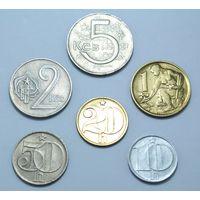 Чехословакия, сборка: 10,20,50 геллеров, 1,2,5 крон (1948г.-1992г.)