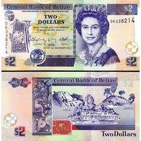 Белиз (Британский Гондурас)  2 доллара, 2017 год  UNC