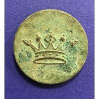 Ливрейная пуговица  (дворянская корона). Большая. Диаметр 3,2 см.