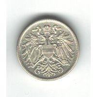 Австро-Венгрия 10 геллеров 1916 года. Австрийский флаг на щите на обороте. Один года чекана. Краузе KM# 2825. Нечастая! Состояние aUNC!