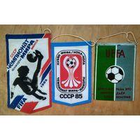 Три футбольных вымпела. Чемпионат мира среди юниоров. 1980-е