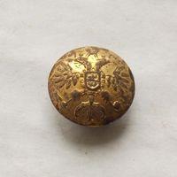Пуговица офицерская РИА 1857-1917 орёл в позолоте диаметр - 22мм