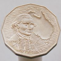 Австралия 50 центов 1970 200 лет австралийскому путешествию капитана Кука