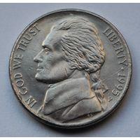 США, 5 центов 1995 г. Р