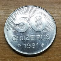 Бразилия 50 крузейро 1981 _РАСПРОДАЖА КОЛЛЕКЦИИ
