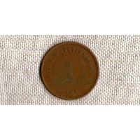Стрэйт Сеттлменс 1 цент 1901 /Виктория//(ON)