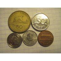 Пять монет/2 с рубля!