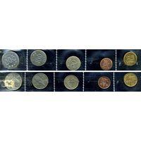 Южная Корея, комплект из 5 монет
