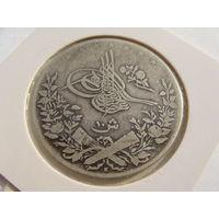 Египет.  10 гирш 1293 (1876) год  KM#295