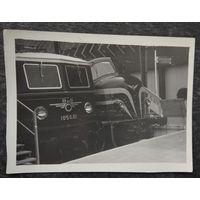 Два локомотива. Фото 1960-х. 9х12 см.