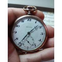Швейцарские карманные часы Revue корпус серебро на ходу с 1 рубля без МПЦ