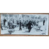 """Детский субботник"". Фото конца 1940- х-начала 1950-х. 6.5х14 см"