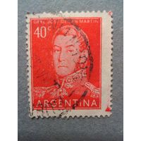 Аргентина. Генерал Сан Мартин. 1954г. гашеная