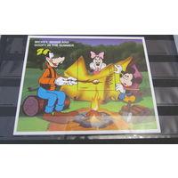 Распродажа - скидка 50% от каталога.Гана 1998г. Год в жизни Микки Мауса и друзей - Персонажи мультфильма Уолта Диснея