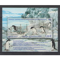 Австралийская и Французская Антарктика ТААФ Пингвины 2012 год чистый блок