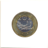 Тайвань 20 долларов (в холдере) 2001