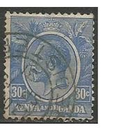 Кения и Уганда. Король Георг V. 1922г. Mi#7.