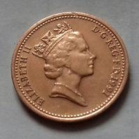 1 пенни, Великобритания 1991 г., AU