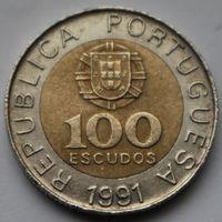 100 эскудо 1991 Португалия