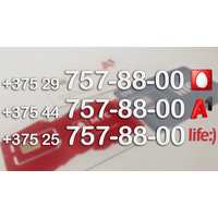 Тройка одинаковых номеров МТС + А1 + Лайф
