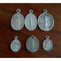Католические алюминиевые образки, медальоны. Цена за штуку
