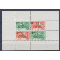 [2251] Суринам 1965. Фауна.Дети и животные. БЛОК MNH