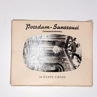 Потсдам - Сан-Суси. Набор 10 мини фотографий. Послевоенные