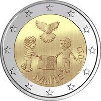 2 евро 2017 г. Мальта  МИР . UNC из ролла