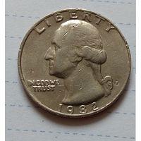 25  центов КВОТЕР  1982  США