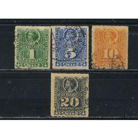 Чили 1883 Колумб Стандарт #32,34,35,37