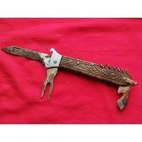 Ножик охотничий СССР,раскладной,экстрактор(часть)