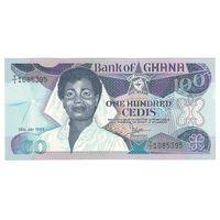 Гана 100 седис 1986 года. Состояние UNC! Редкая!
