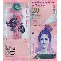 Венесуэла  20  боливаров  образца 2013 года  UNC