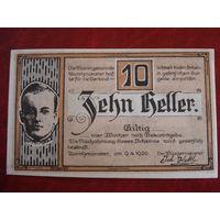 10 геллеров 1920 год Австрия