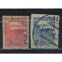 Эстония Респ 1920 Рига Стандарт#27-28