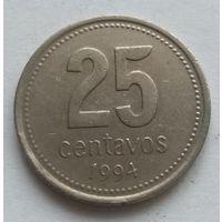 Аргентина ,25 сентаво 1994 год