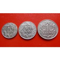 1 Злотый 1929 + (20+50)грошей 1923 -Речь Посполитая Польша- *никель