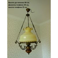 Люстра, светильник, лампа. Франция 70-е годы. Бронза.