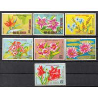 Флора Цветы Африки Экваториальная Гвинея  1976 год чистая серия из 7 марок (М)