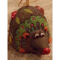 Колокольчик - мышь (глина)