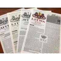 Газета Літва - Litwa, 4 нумары, 1999-2007 гады. Кошт за ўсё