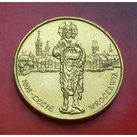 2 злотых 2000 Польша 1000 лет Вроцлаву (1000-lecie Wroclawia)