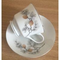 Чашка (чайная пара) Сосновый бор, Япония