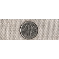 Эфиопия 25 центов/сантимов 2008/фауна/лев/(NS)